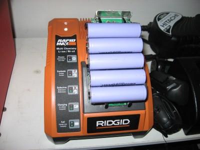 charging the mini pack