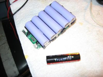 small Ridgid lithium battery