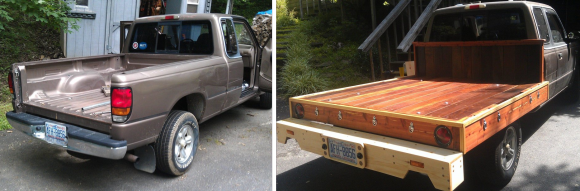 Wooden Flatbed Conversions And A Plywood Rack For A