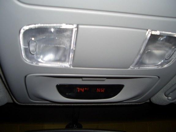 Toyota Tacoma overhead display with compass