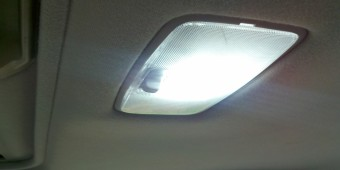 LED interior lamp in Toyota Camry