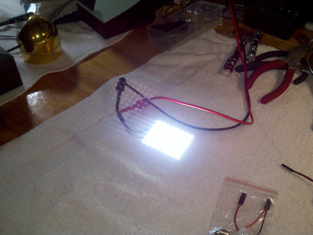 LED lamp module connected to 12 v power supply