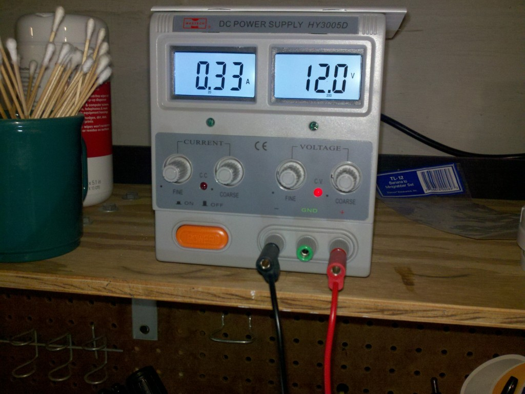 Power supply to LED lamp